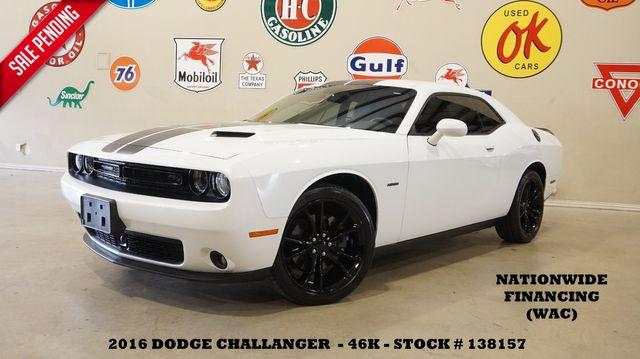 2016 Dodge Challenger R/T Plus AUTO,NAV,HTD/COOL LTH,BLK 20'S,46K