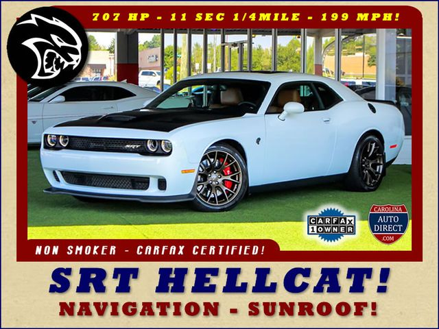 2016 Dodge Challenger SRT Hellcat NAV - SUNROOF - 199 MPH TOP SPEED! Mooresville , NC 0