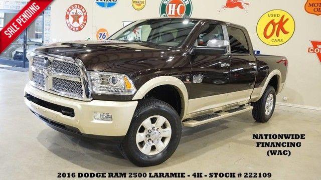 2016 Dodge RAM 2500 Laramie Longhorn 4X4 DIESEL,ROOF,NAV,HTD/COOL L...