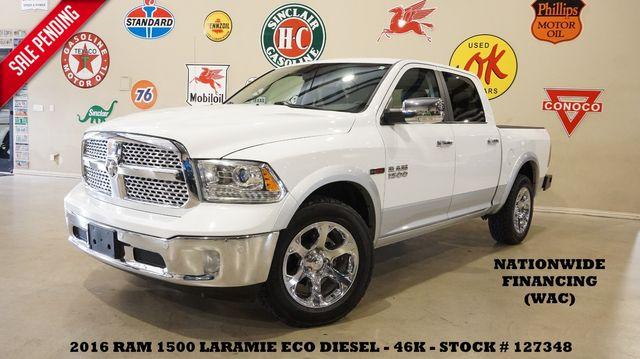 2016 Dodge Ram 1500 Laramie 4X4 ECODIESEL,ROOF,NAV,HTD/COOL LTH,46K