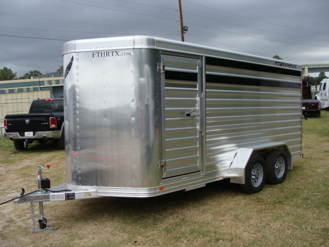 2016 Featherlite 8107 16' STOCK TRAILER WITH STALLS CONROE, TX 3