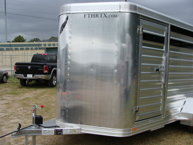 2016 Featherlite 8107 16' STOCK TRAILER WITH STALLS in Conroe, TX 77384