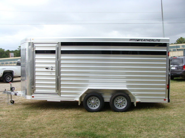 2016 Featherlite 8107 16' STOCK TRAILER WITH STALLS CONROE, TX 4