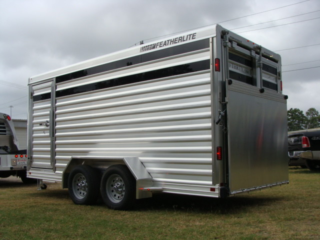 2016 Featherlite 8107 16' STOCK TRAILER WITH STALLS CONROE, TX 5
