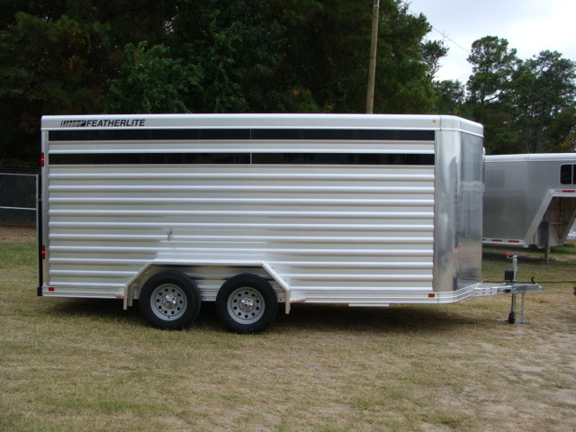 2016 Featherlite 8107 16' STOCK TRAILER WITH STALLS CONROE, TX 13