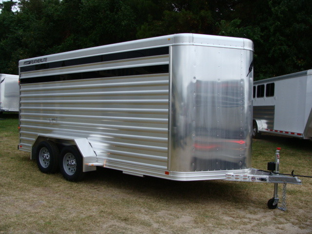 2016 Featherlite 8107 16' STOCK TRAILER WITH STALLS CONROE, TX 0