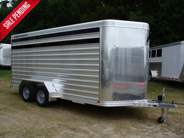 2016 Featherlite 8107 16' STOCK TRAILER WITH STALLS CONROE, TX