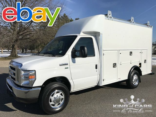 2016 Ford E350 Utility Service WALK IN BOX VAN 53K MILES 1-OWNER MINT NEW TIRES