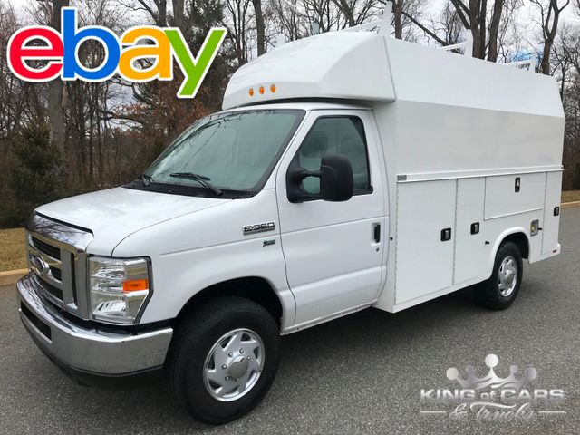 2016 Ford E350 Utility Service WALK IN BOX VAN 70K MILES 1-OWNER MINT
