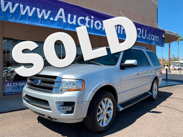 2016 Ford Expedition Limited Ecoboost 4WD 3 MONTH/3,000 MILE NATIONAL POWERTRAIN WARRANTY Mesa, Arizona 0