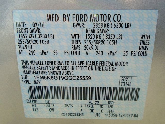 2016 Ford Explorer Sport Madison, NC 64