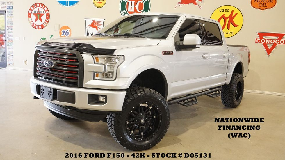 2016 Ford F150 Lifted >> 2016 Ford F 150 Lariat 4x4 Lifted Pano Roof 360 Cam Fuel Whls 42k