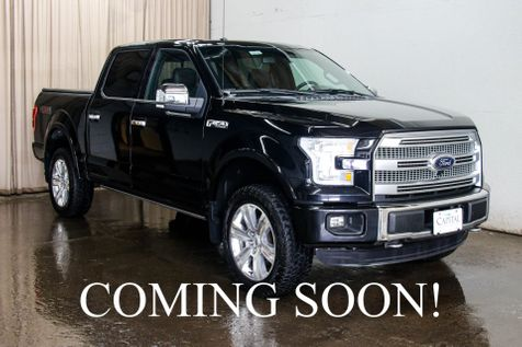 2016 Ford F-150 XLT Platinum 4x4 Supercrew w/Navigation,  Heated Front/Rear Seats, and 360° Backup Camera in Eau Claire