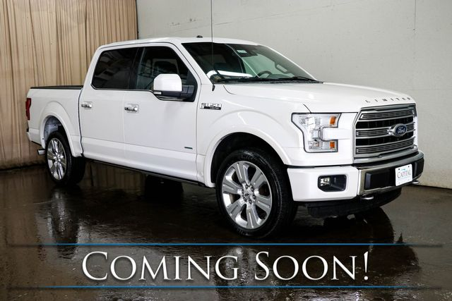 """2016 Ford F-150 Limited Crew Cab 4x4 w/ECOBoost, Nav, Adaptive Cruise, Panoramic Roof & 22"""" Wheel Pkg"""
