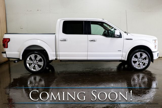 """2016 Ford F-150 Limited Crew Cab 4x4 w/ECOBoost, Nav, Adaptive Cruise, Panoramic Roof & 22"""" Wheel Pkg in Eau Claire, Wisconsin 54703"""