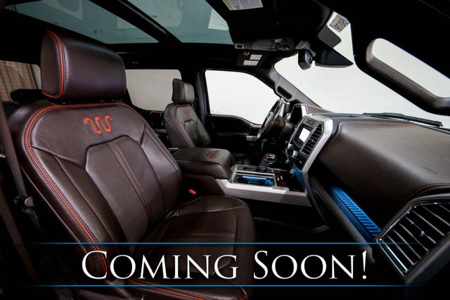 """2016 Ford F-150 King Ranch 4x4 w/2-Tone Interior, Nav, 360º Cam, Heated/Cooled Seats, Moonroof & 20"""" Wheels in Eau Claire, Wisconsin 54703"""