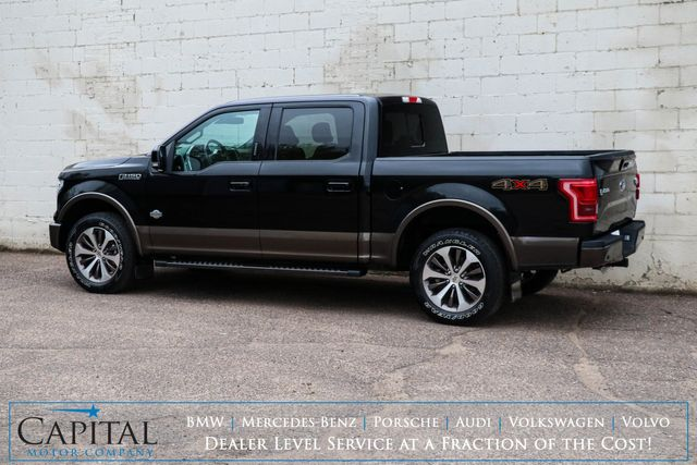 """2016 Ford F-150 King Ranch SuperCrew 4x4 w/Navigation, Pro-Trailer Assist, Panoramic Roof & 20"""" Wheels in Eau Claire, Wisconsin 54703"""