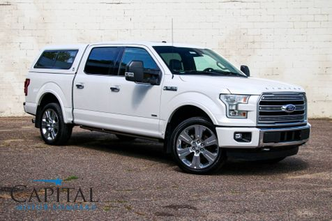 2016 Ford F-150 Limited SuperCrew Ecoboost 4x4 w/Topper, Navigation, Tech Pkg, Panoramic Roof & Tow Pkg in Eau Claire