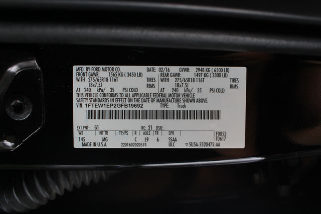 2016 Ford F-150 XLT Crew Cab 4x4 FX4 - 301A & CHROME PKGS! Mooresville , NC 45