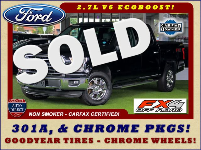 2016 Ford F-150 XLT Crew Cab 4x4 FX4 - 301A & CHROME PKGS! Mooresville , NC