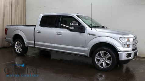 2016 Ford F-150 Platinum Crew Cab 4x4 w/Nav, Panoramic Roof, Heated/Cooled/Massage Seats & 20
