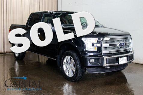 2016 Ford F-150 Platinum SuperCrew 4x4 w/Navigation, 360° Cam, Heated/Cooled Seats, Tech Pkg & 20