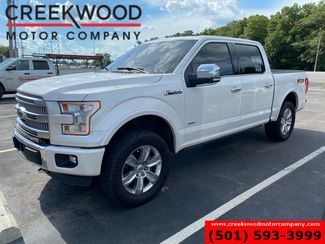 2016 Ford F-150 Platinum 4x4 EcoBoost White Chrome 20s Nav Sunroof in Searcy, AR 72143