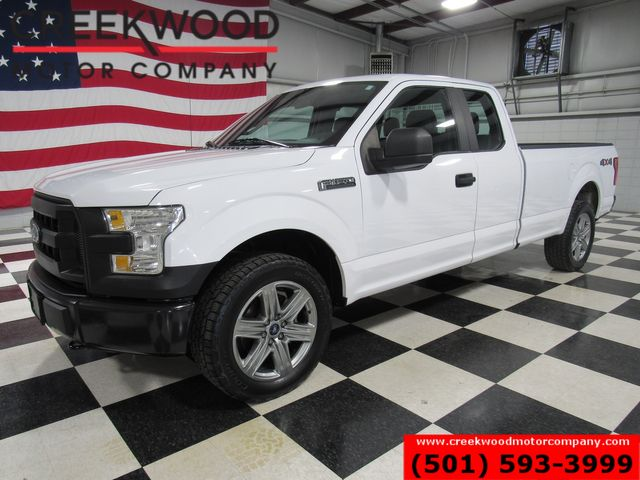 2016 Ford F-150 XLT 4x4 5.0L Long Bed White 20s Ext Cab Work Truck