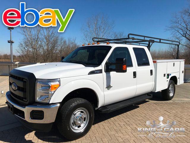 2016 Ford F250 6.7l Diesel 4x4 UTILITY CREW 61K MILES 2-OWNER KNAPHEIDE SERVICE