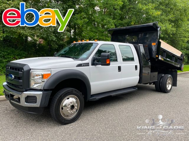 2016 Ford F550 4x4 Crew CAB L-PACK MASON DUMP ONLY 34K MILES V10 in Woodbury, New Jersey 08093