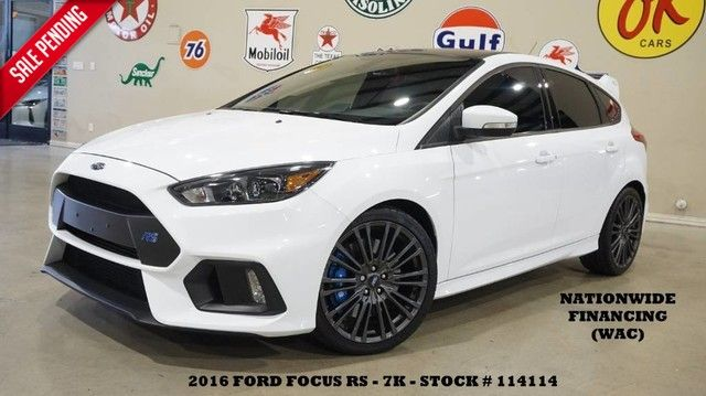 2016 Ford Focus RS AWD 6 SPD,BACK-UP CAM,RECARO,SYNC,7K,WE FINANCE