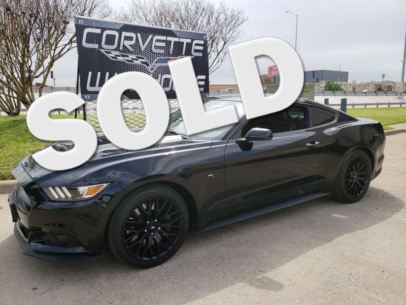 2016 Ford Mustang Gt Premium 6 Sd Black Alloy Wheels 17k Dallas Texas Corvette Warehouse