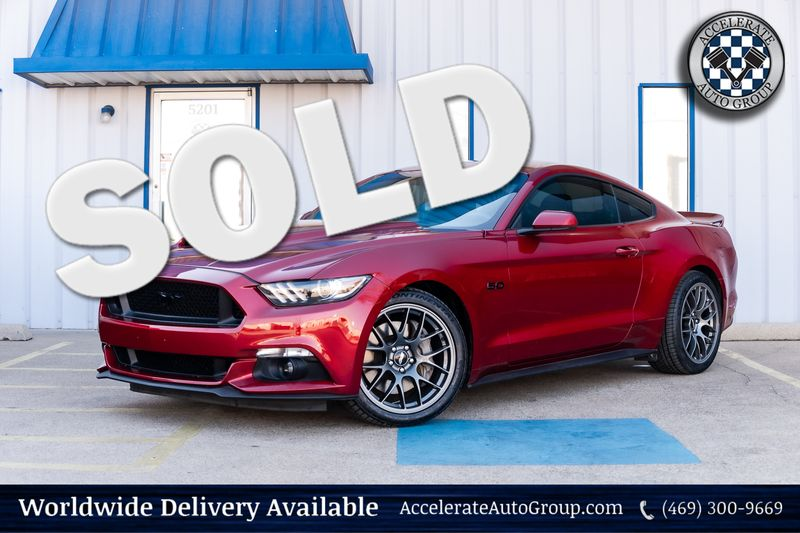 2016 Ford Mustang GT 6 SPD MAN LEATHER CLEAN CARFAX UPGRADES NICE! in Rowlett Texas