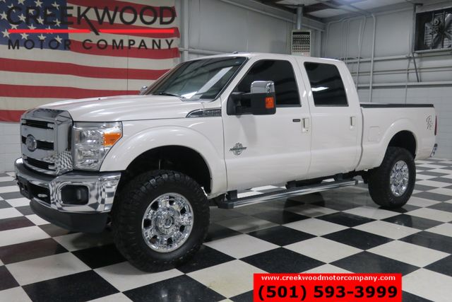 """2016 Ford Super Duty F-250 Lariat 4x4 Diesel Leather Nav 20s Lifted 37"""" Tires"""