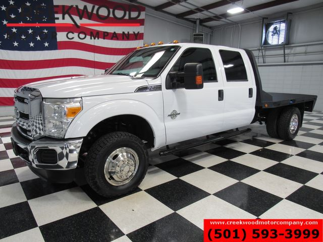 2016 Ford Super Duty F-350 XLT 4x4 Diesel Dually Flatbed White New Tires NICE
