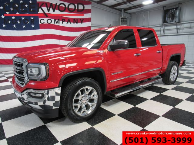 2016 GMC Sierra 1500 SLT 4x4 Z71 Red Chrome 20s 1 Owner Leather Heated