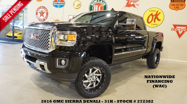 2016 GMC Sierra 2500HD Denali 4X4 LIFTED,ROOF,NAV,REAR DVD,FUEL WHLS,31K