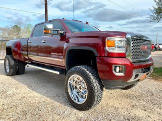 2016 GMC Sierra 3500HD DRW Denali Crew Cab 4X4 6.6L Duramax Diesel Allison Auto LIFTED in Sealy, Texas 77474