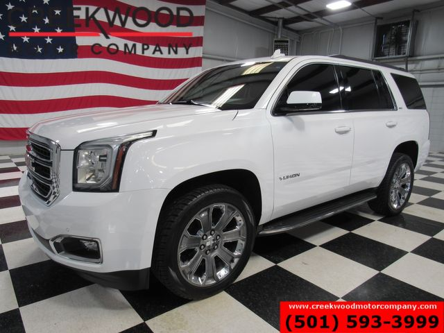 2016 GMC Yukon SLT 4x4 White 22s Leather Nav Roof Tv Dvd 1 Owner