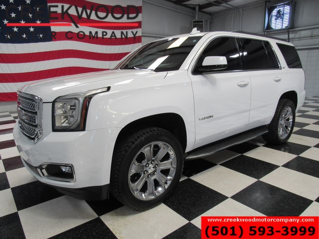 2016 GMC Yukon SLT 4x4 White 22s New Tires Leveled Nav Dvd 1Owner