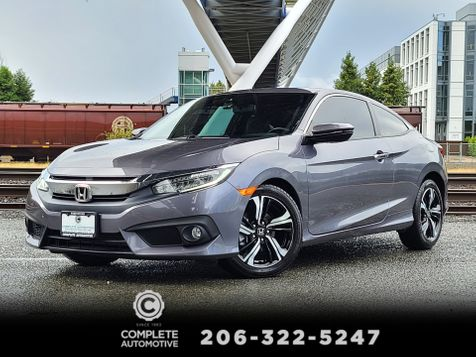 2016 Honda Civic Touring Coupe Local 1 Owner All Options Low Miles Like New Save! in Seattle