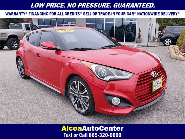 2016 Hyundai Veloster 1.6L Turbo 3dr Coupe DCT w/Black Leather Seats