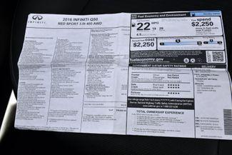 2016 Infiniti Q50 3.0t Red Sport 400 Waterbury, Connecticut 40