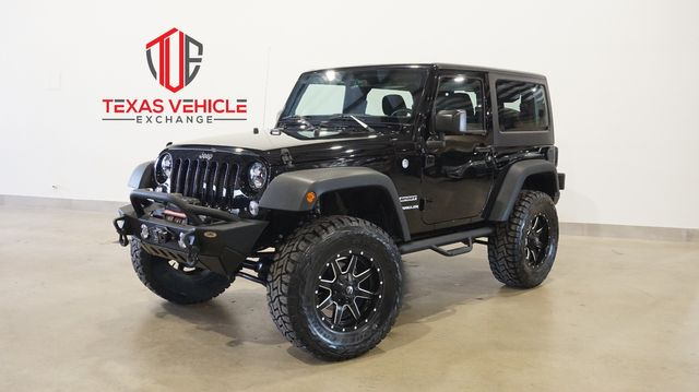 2016 Jeep Wrangler Sport 4X4 AUTO,LIFTED,BUMPERS,LED'S,FUEL WHLS,38K