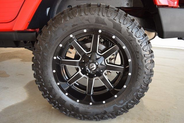 2016 Jeep Wrangler Unlimited Rubicon LIFTED W/CUSTOM WHEELS & TIRES in McKinney Texas, 75070
