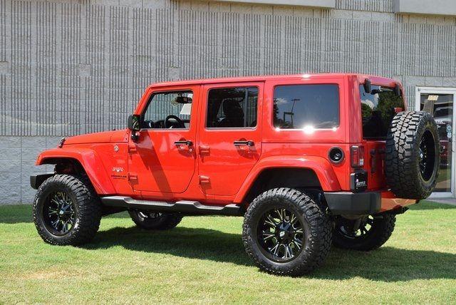 2016 Jeep Wrangler Unlimited Sahara NEW LIFT W/CUSTOM WHEELS & TIRES in McKinney Texas, 75070