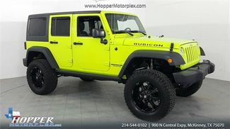 2016 Jeep Wrangler Unlimited Rubicon LIFTED CUSTOM WHEELS AND TIRES in McKinney Texas, 75070