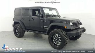 2016 Jeep Wrangler Unlimited Sport LIFT/CUSTOM WHEELS AND TIRES in McKinney Texas, 75070