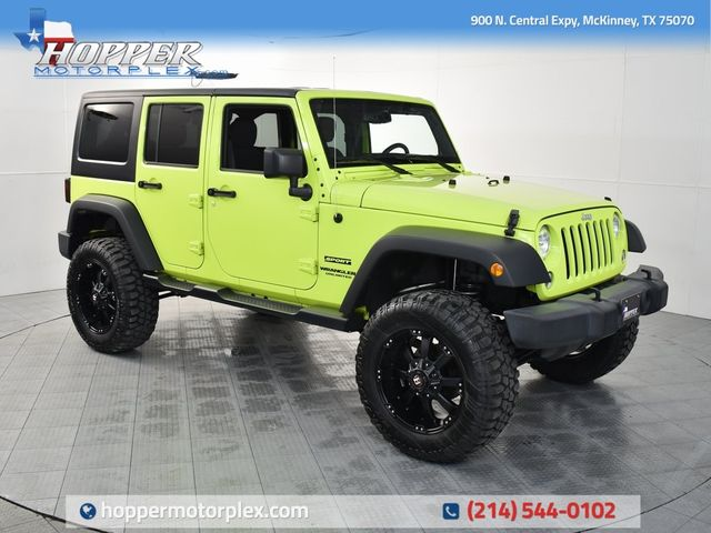 2016 Jeep Wrangler Unlimited Sport With Custom Lift, Wheels and Tires