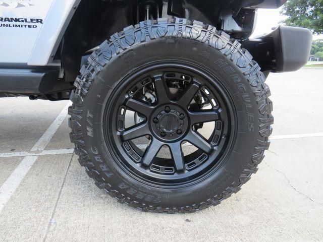 2016 Jeep Wrangler Unlimited Sahara CUSTOM LIFT WHEELS AND TIRES in McKinney, Texas 75070